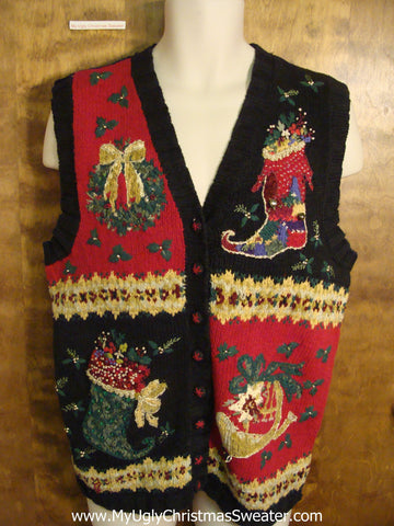 Ornate Horrible Ugly Christmas Jumper Vest