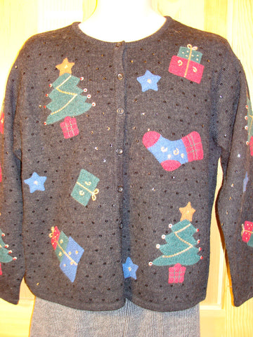 Tacky Ugly Christmas Sweater 2sided Gem (f482)