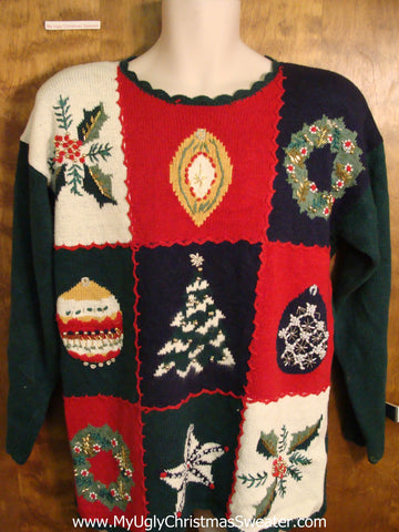 Festive 80s Colorful Ugly Christmas Jumper