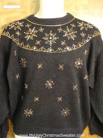 Cheap Black Ugly Christmas Jumper
