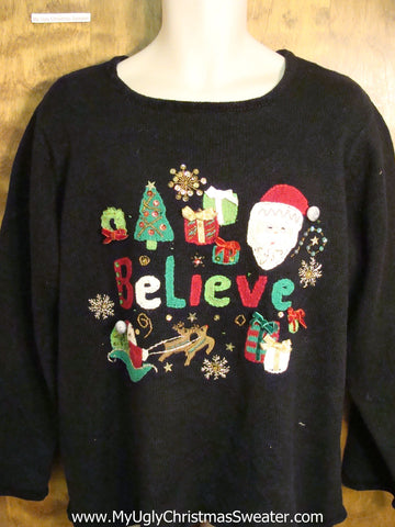 I BELIEVE Ugly Christmas Jumper