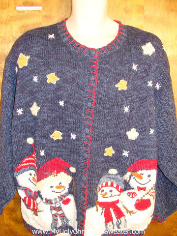 Ugly 3XL Blue Christmas Jumper
