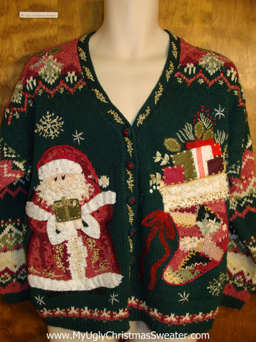 Horrible Ornate 2sided Mess Ugly Christmas Jumper