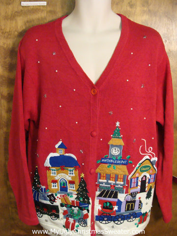 Winter Wonderland Town Ugly Christmas Jumper