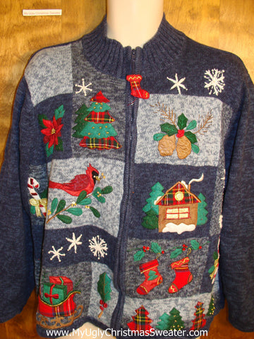 Tacky Birds and Ivy Ugly Christmas Jumper