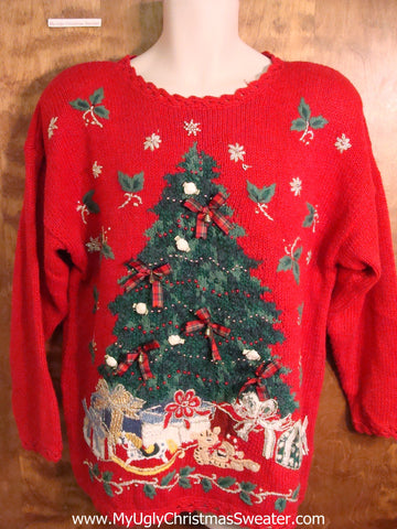 Ugly Christmas Sweater with Festive Tree