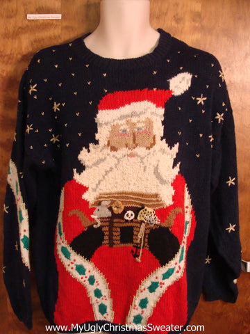 Amazing Santa and His Arc Ugly Christmas Sweater