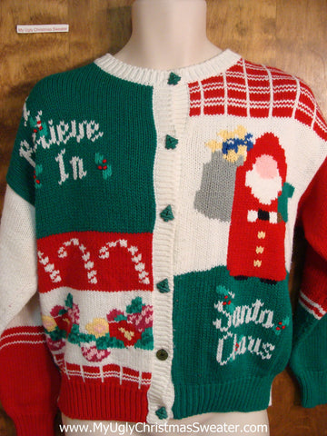 Ugly Christmas Sweater 80s Colorful Gem