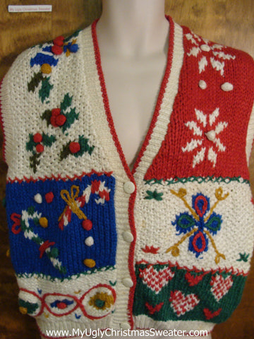 Ugly Christmas Sweater Chuncky 80s Vest