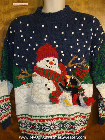 Cute 2sided 80s Ugly Christmas Sweater