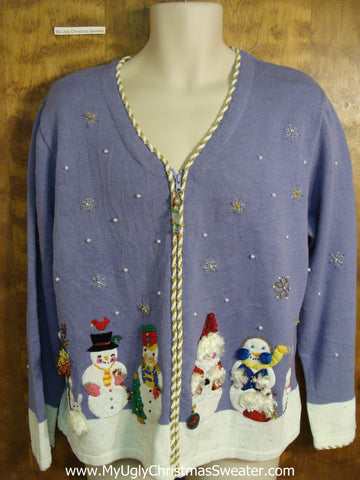 Purple 2sided Ugly Christmas Sweater