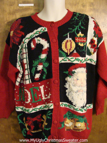 80s NOEL Chunky Ugly Christmas Sweater