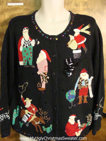 Rodeo Santas Ugly Christmas Sweater