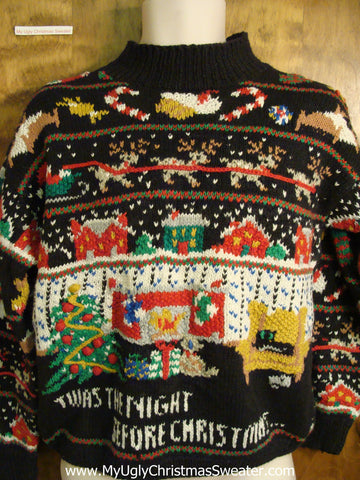 Night Before Xmas Ugly Christmas Sweater