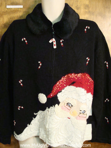 Huge Santa Head Ugly Christmas Sweater