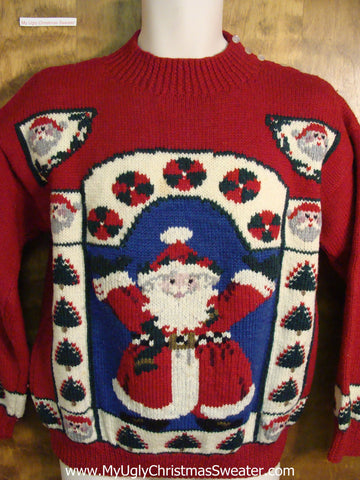 Festive Santa Ugly Christmas Sweater