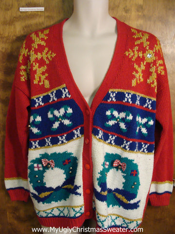 Fun 80s Festive Ugly Christmas Sweater