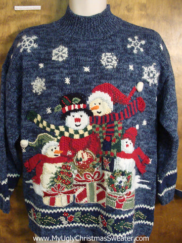 Snowmen Family Ugly Christmas Sweater