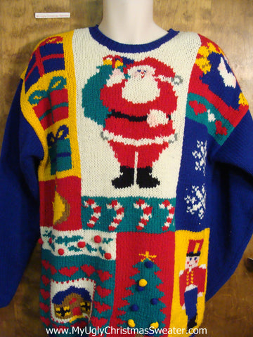Fun Festive 80s Ugly Christmas Sweater