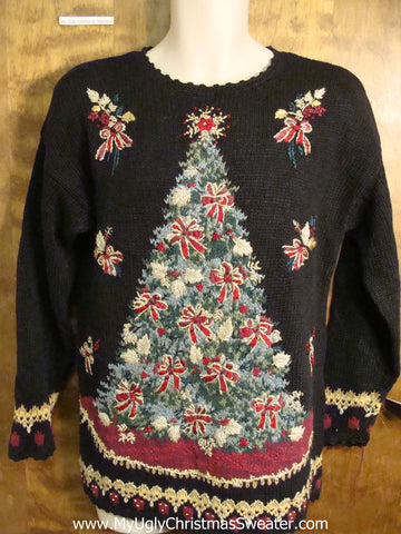 Massive Tree 80s Ugly Christmas Sweater