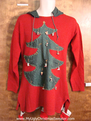 Home Crafted Ugly Christmas Sweater Party Dress