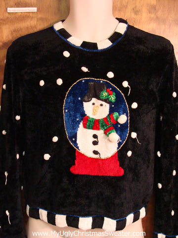 Snowglobe Themed Soft  Ugly Christmas Sweater