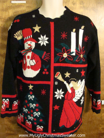 80s Acrylic Mess Ugly Christmas Sweater
