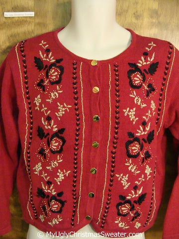 Red Classic Nordic Ugly Christmas Sweater