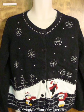 Cute Penguins 2sided Ugly Christmas Sweater
