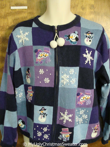 Purple and Blue Ugly Christmas Sweater