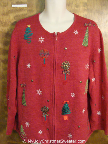 Horrible Festive Trees Ugly Christmas Sweater