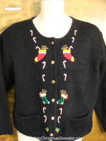 Ugly Christmas Sweater with Padded Shoulders