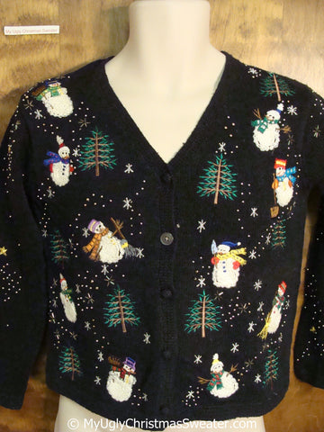 2sided Snowman Themed Ugly Christmas Sweater