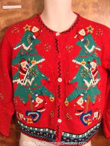 Best 80s Colorful Ugly Christmas Sweater