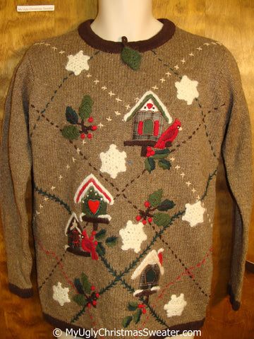 Horrible Brown Festive Ugly Christmas Sweater Pullover