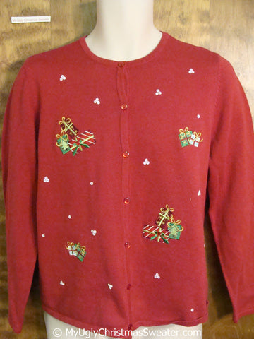 Cute Red Ugly Christmas Sweater