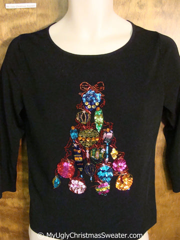 Seriously Bling Filled Ugly Christmas Sweater Pullover