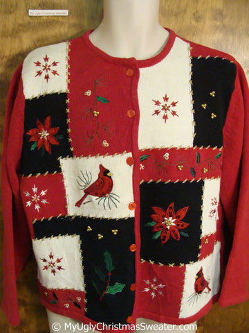 Cheap Tacky Red Ugly Christmas Sweater