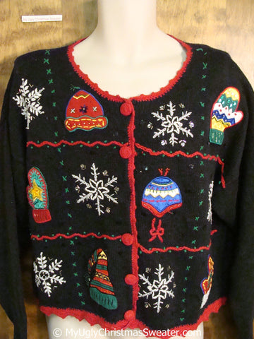 Hats Mittens and Snowflakes Ugly Christmas Sweater