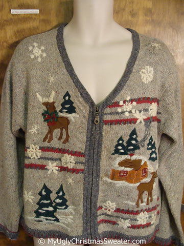 Reindeer in a Winter Wonderland Ugly Christmas Sweater