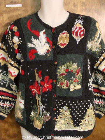 Horrible 80s Ornate Ugly Christmas Sweater