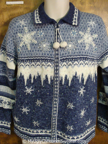 Classic Nordic Snowflakes Ugly Christmas Sweater