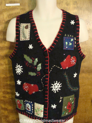 Cute Crafty Ugly Christmas Sweater Vest