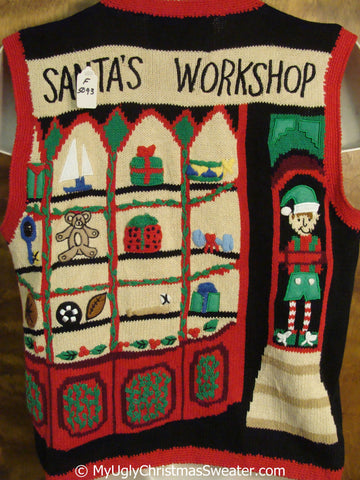 Santas Workshop Best Ugly Christmas Sweater Vest