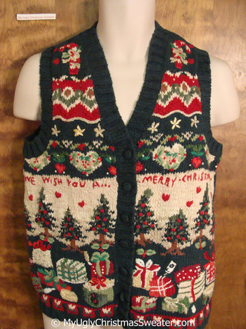 WE WISH YOU A MERRY CHRISTMAS Sweater Vest
