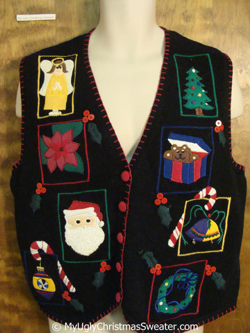 Colorful and Fun Cheap Christmas Sweater Vest