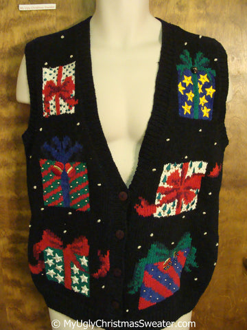 Colorful Gifts 2sided Cheap Christmas Sweater Vest