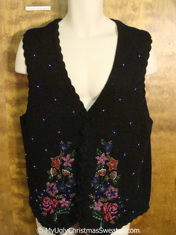Really Ugly 80s Cheap Christmas Sweater Vest