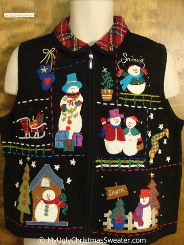 SNOW and SANTA Ugly Christmas Sweater Vest