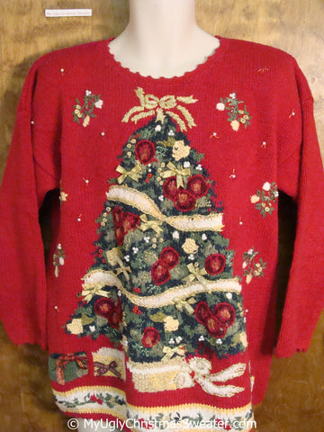 Best 80s Tree Ugly Christmas Sweater Pullover